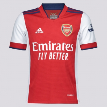 Camisa Adidas Arsenal Home 2022 Juvenil