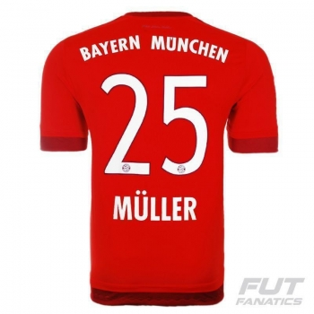 Camisa Adidas Bayern Home 2016 25 Müller