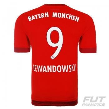 Camisa Adidas Bayern Home 2016 9 Lewandowski