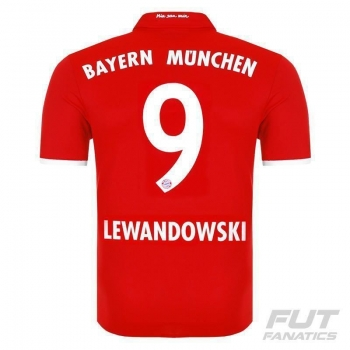 Camisa Adidas Bayern Home 2017 9 Lewandowski