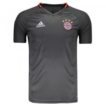 Camisa Adidas Bayern Treino 2017 Grafite