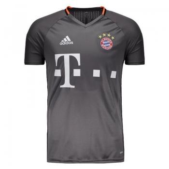 Camisa Adidas Bayern Treino 2017 Grafite com Patrocínio