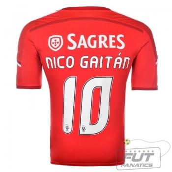 Camisa Adidas Benfica Home 2015 10 Nico Gaitán