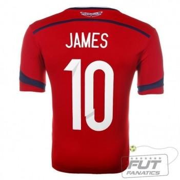 Camisa Adidas Colômbia Away 2014 10 James