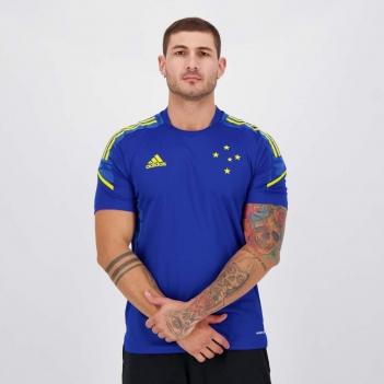 Camisa Adidas Cruzeiro Treino 2021 Azul