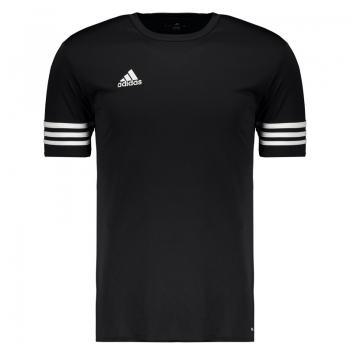 Camisa Adidas Entrada 14 Preta e Branca