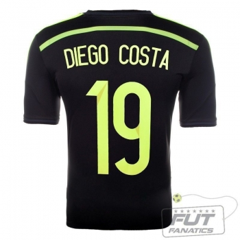 Camisa Adidas Espanha Away 2014 19 Diego Costa Matchday