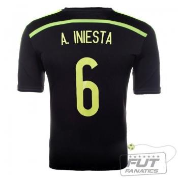Camisa Adidas Espanha Away 2014 6 Iniesta Matchday