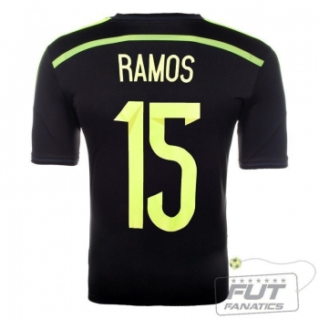 Camisa Adidas Espanha Away 2014 15 Ramos Matchday