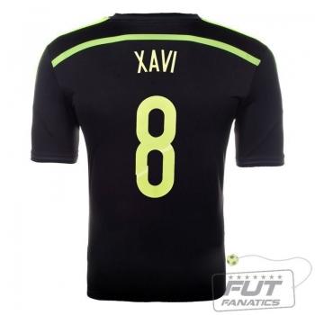 Camisa Adidas Espanha Away 2014 8 Xavi Matchday