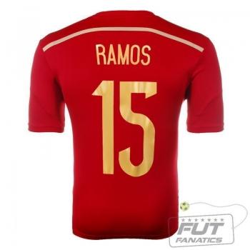 Camisa Adidas Espanha Home 2014 15 Ramos Matchday
