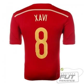Camisa Adidas Espanha Home 2014 8 Xavi Matchday