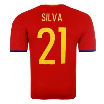 Camisa Adidas Espanha Home 2016 21 Silva