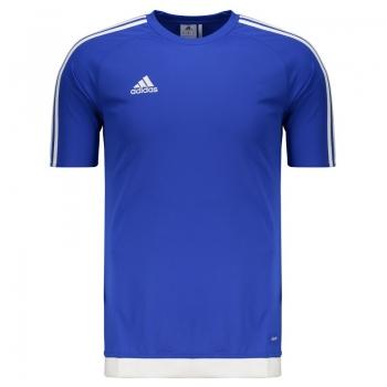 Camisa Adidas Estro 15 Azul e Branca