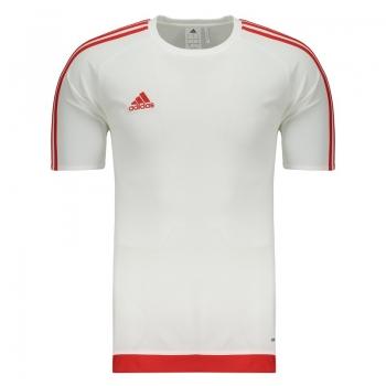 Camisa Adidas Estro 15 Branca e Vermelha