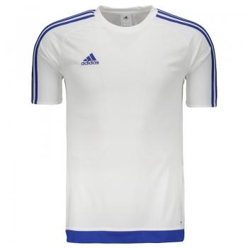 Camisa Adidas Estro 15 Branca e Azul