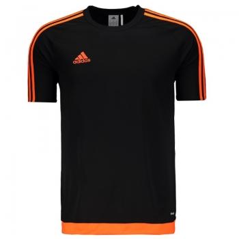 Camisa Adidas Estro 15 Preta e Laranja