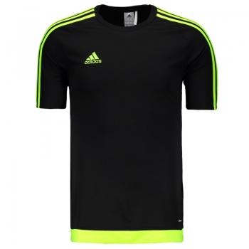 Camisa Adidas Estro 15 Preta e Verde