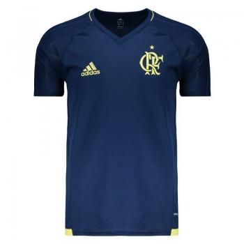 Camisa Adidas Flamengo Treino 2017 Marinho