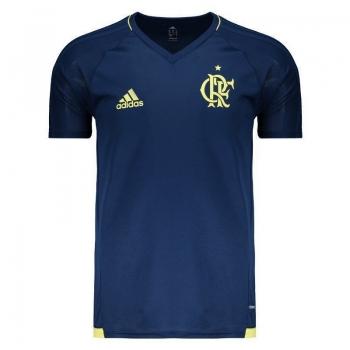 Camisa Adidas Flamengo Treino 2017 Marinho Juvenil