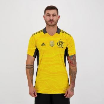 Camisa Adidas Flamengo Goleiro I 2021 Campeão Brasileiro 2020