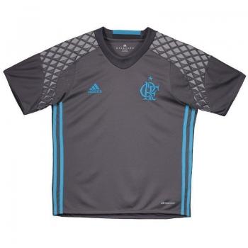 Camisa Adidas Flamengo Goleiro II 2016 Juvenil