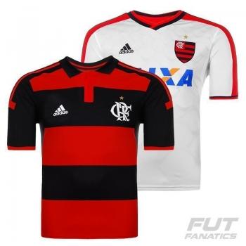 Camisa Adidas Flamengo I 2014 Jogador Sem Patrocínio + Camisa II 2014