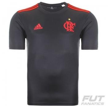 Camisa Adidas Flamengo Poliéster Grafite