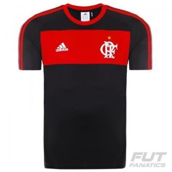 Camisa Adidas Flamengo Poliéster Preta