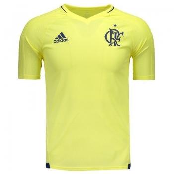 Camisa Adidas Flamengo Treino 2017 Amarela Juvenil