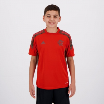 Camisa Adidas Flamengo Treino 2021 Juvenil