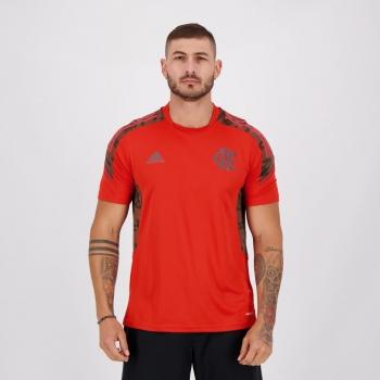 Camisa Adidas Flamengo Treino 2021 Vermelha