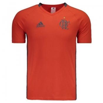 Camisa Adidas Flamengo Viagem 2016 Laranja