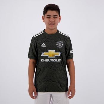 Camisa Adidas Manchester United Away 2021 Infantil