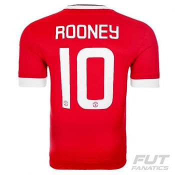Camisa Adidas Manchester United Home 2016 Juvenil 10 Rooney