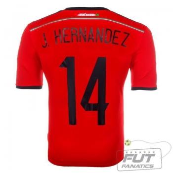 Camisa Adidas México Away 2014 14 J Hernandez Matchday