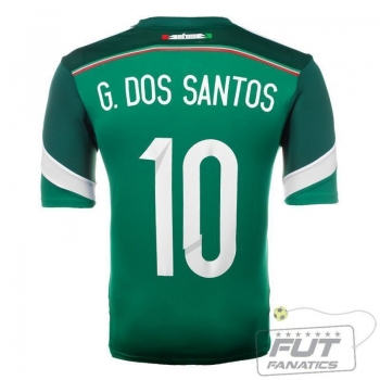 Camisa Adidas México Home 2014 10 G. Dos Santos Matchday