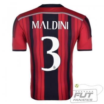Camisa Adidas Milan Home 2015 3 Maldini