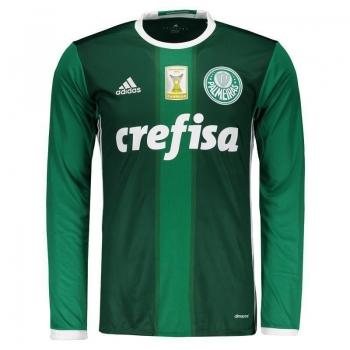 Camisa Adidas Palmeiras I 2016 Manga Longa Com Patch
