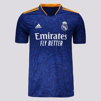 Camisa Adidas Real Madrid Away 2022 Juvenil