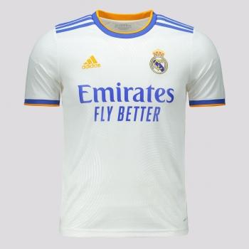 Camisa Adidas Real Madrid Home 2022 Juvenil