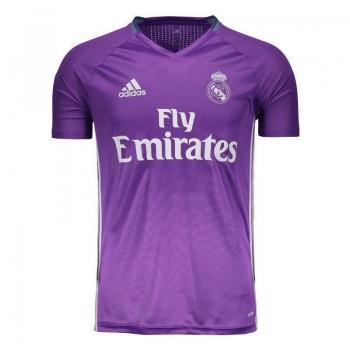 Camisa Adidas Real Madrid Treino 2017 Roxa com Patrocínio