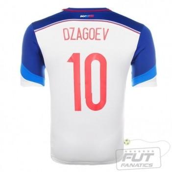 Camisa Adidas Rússia Away 2014 10 Dzagoev Matchday