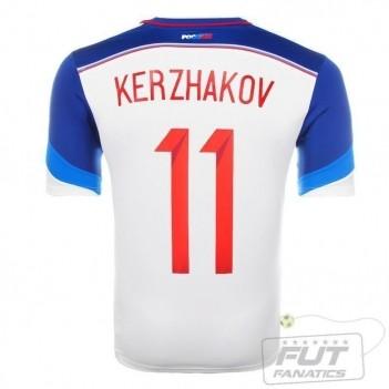 Camisa Adidas Russia Away 2014 11 Kerzhakov Matchday