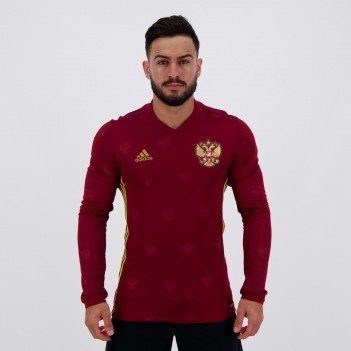 Camisa Adidas Russia Home 2017 Jogador Manga Longa