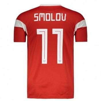 Camisa Adidas Rússia Home 2018 11 Smolov