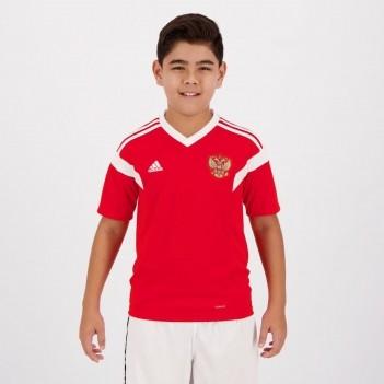 Camisa Adidas Rússia Home 2018 Juvenil