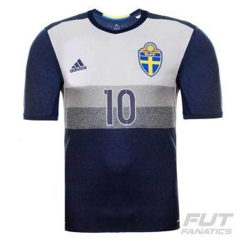 Camisa Adidas Suécia Away 2016 10 Ibrahimovic