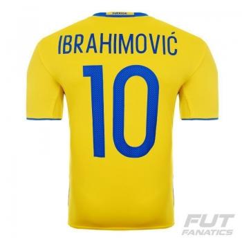 Camisa Adidas Suécia Home 2016 10 Ibrahimovic