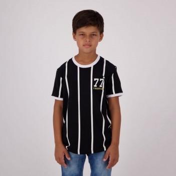 Camisa Corinthians Retrô Alvinegro 1977 Juvenil